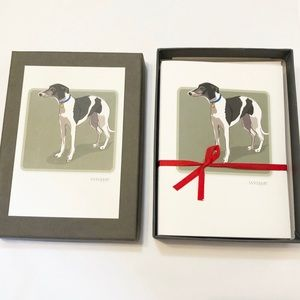 Whippet Blank Note Cards, Set of 6